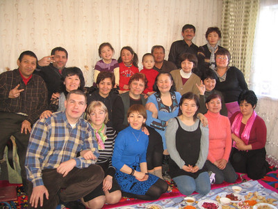 New Year's Deaf party in Bishkek, Kyrgyzstan