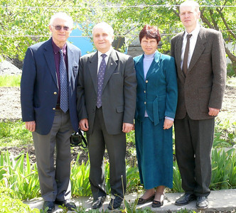 Leaders in Deaf Ministry in Kyrgyzstan with John Blake (left) visiting in April/08
