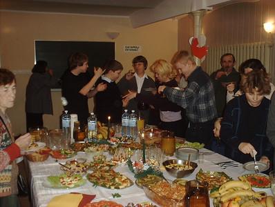 Adventist deaf enjoying good food together in Poland