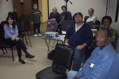 The deaf audience in the room from which the 'live' internet program was sent during the October, 2006, evangelistic series sent over the internet.