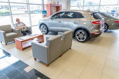 Showroom customer lounge