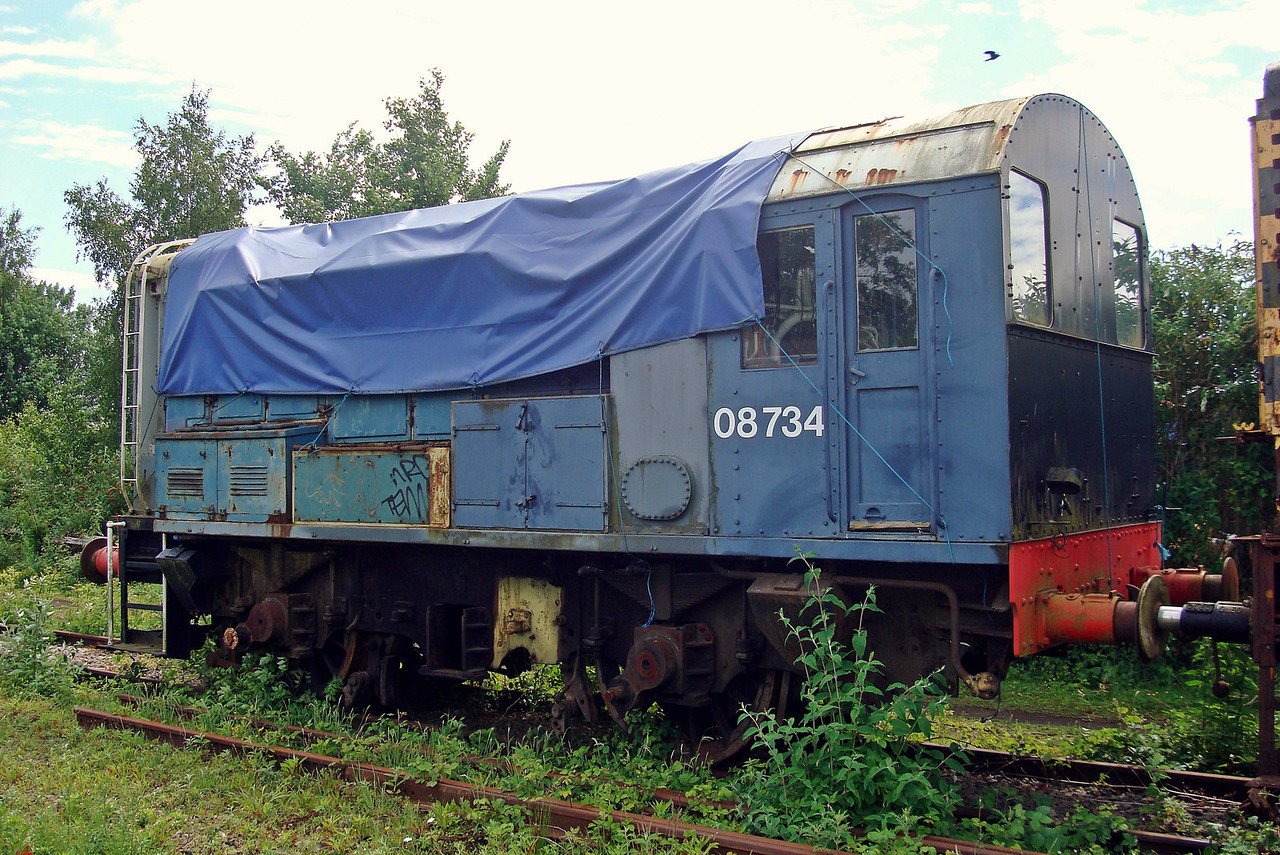 BR 08734 Crewe 0-6-0DE  11,06,2010. (Now Scrapped)