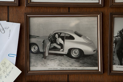 In Dean's office I found a picture of the Porsche that I hadn't seen before on the wall.