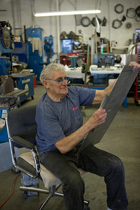 Master fabricator at work - age 77 and still at it.