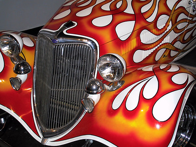 Dean Jeffries flamed 1933 Ford