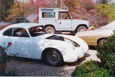 In the background is my 1961 Land Rover and 1965 Corvair Turbo Corsa