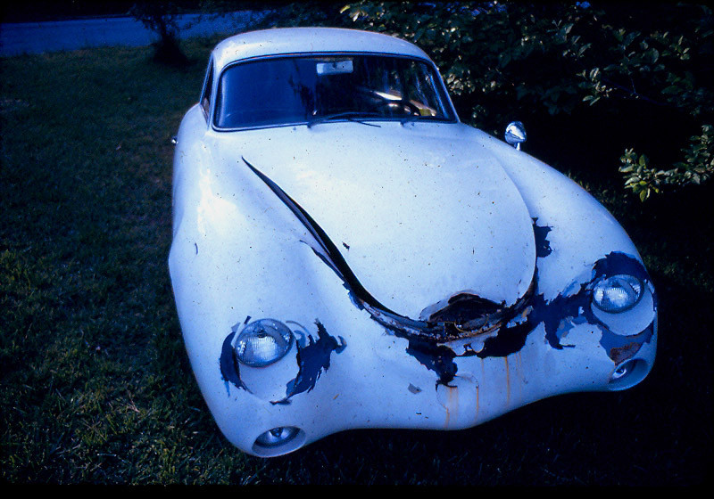 The Porsche had been crashed by Sandy Hunter a few weeks before he sold it to one of my best friends older sister. I'd been trying to buy the car since I first saw it in 1970.