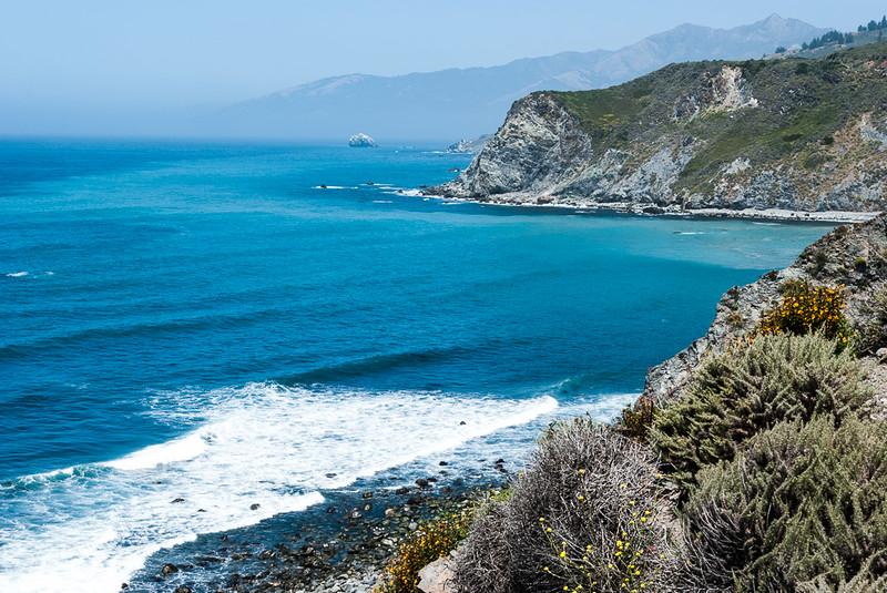 California coast line north of San Simeon