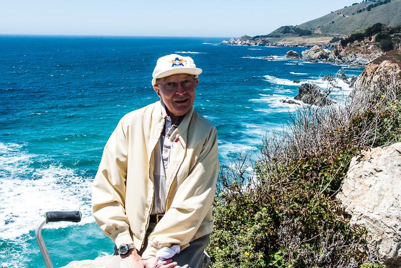 Dean on the California coast