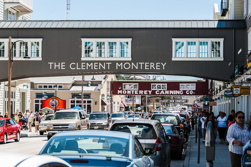 Busy tourist season on cannery row