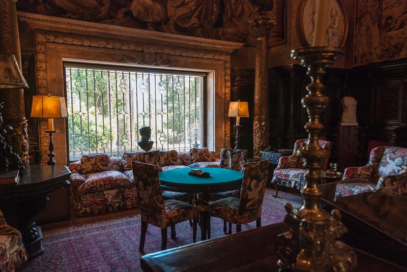 A parlor inside Hearst castle