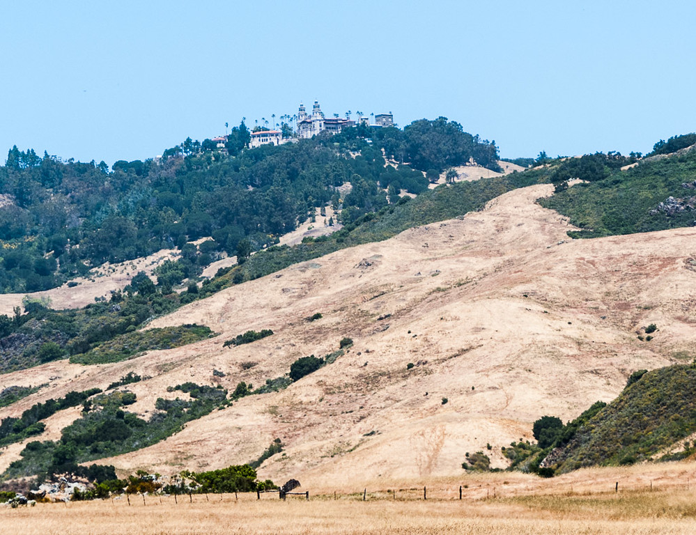 Hearst Castle on the hill at San Simeon