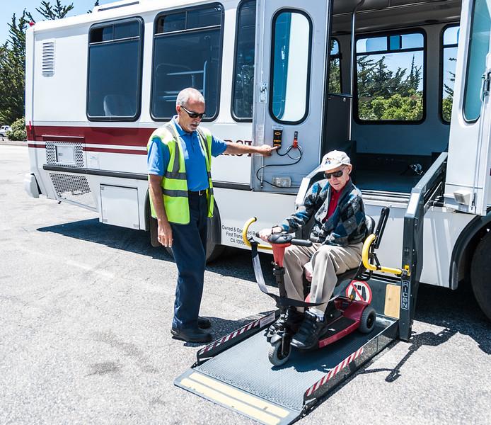 Easy access bus