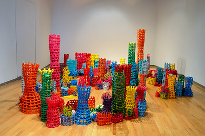 """""""Accumulation, an Installation of Sculptural Structures"""" by Erin McCarty"""