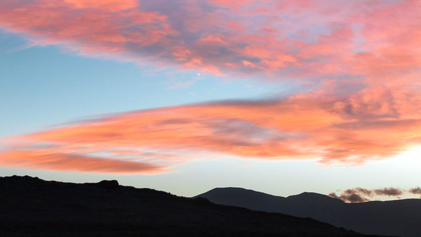 Death Valley sky at sunset