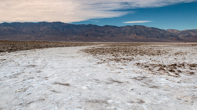 Salt Flat and Dry Mountains