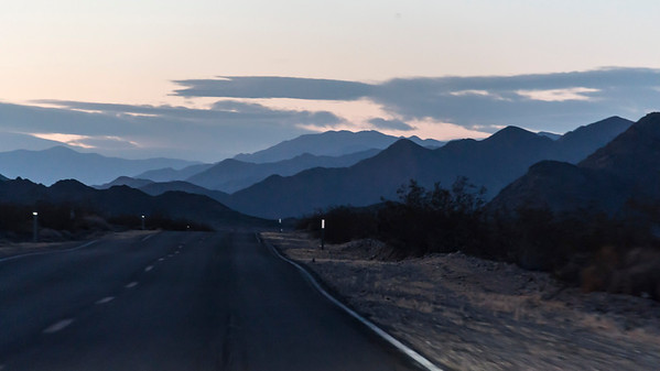 Death Valley Road at Twilight