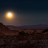 October Moon Shines On Desert