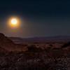 October Moon Shines On Desert