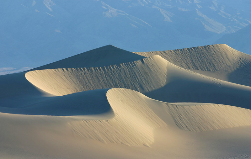 Sunrise shot of the sand dunes near Stovepipe Wells Death Valley, CA