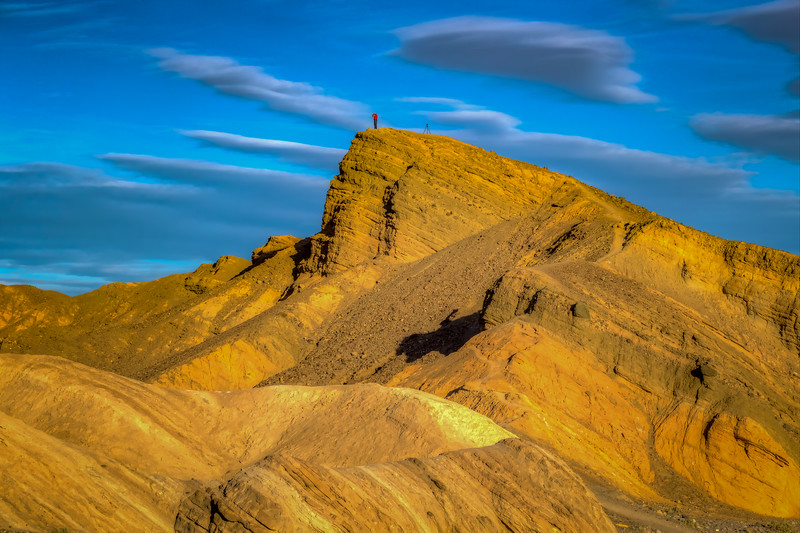 Photographer On Cliff At Zabriskie Point