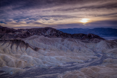 Sun Setting Over Zabriskie Point