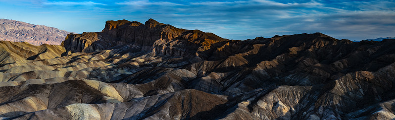 Death Valley, Zabriskie Point panorama at sunrise
