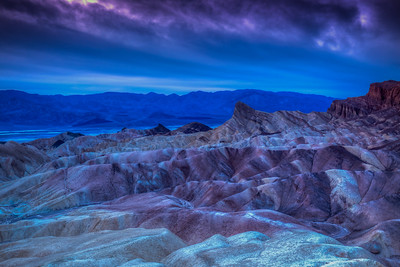 Clouds over Zabriskie Point