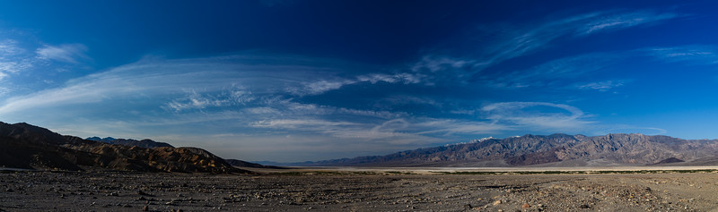 Panorama of Death Valley near Badwater basin