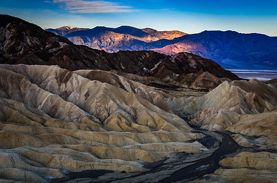 Sunrise at Death Valley, Zabriskie Point