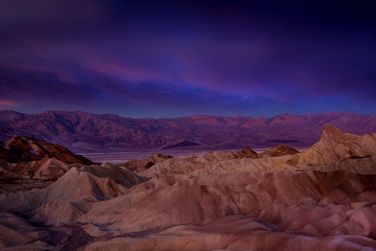 Dawn Clouds At Zabriskie Point