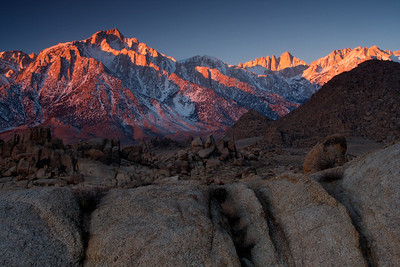 Alabama Hills - Sierra Mountains, California - D'An Holmes Glueckert - January 2008