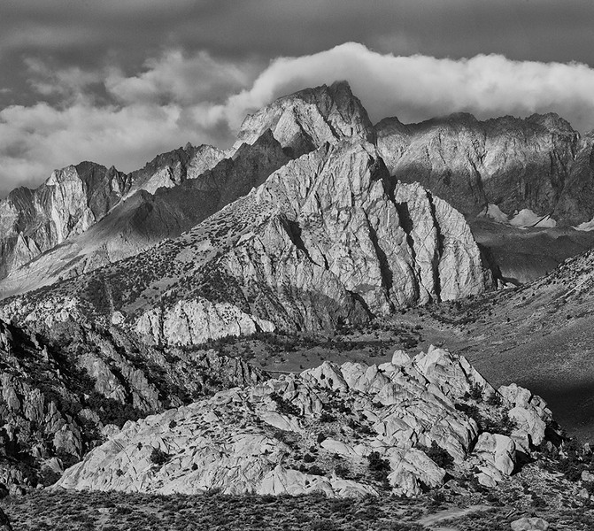 Sierras in Clouds - Sierra Mountains, California - Mark Gromko - August 2012