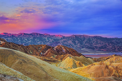"""Kiss of Color,"" Zabriskie Point Dawn, Death Valley National Park, California"