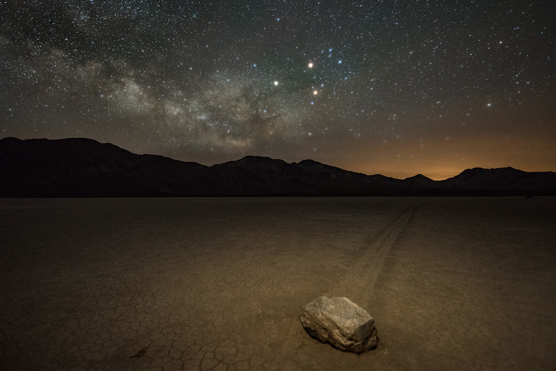 "One of the ""moving"" rocks at The Racetrack inside Death Valley National Park"