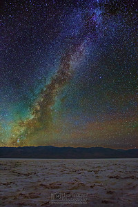 """Celestial Badwater,"" The Milky way over Badwater Basin, Death Valley National Park"