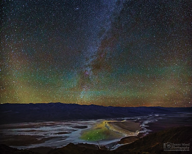 """Ephemeral Beauty,"" The Milky Way over Lake Manly in Badwater Basin,"" Death Valley National Park, California"