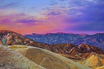 """Pink Dawn,"" Sunrise over Zabriskie Point, Death Valley National Park, California"