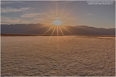 Sunset at Badwater, Death Valley