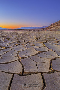 """Cracks in Time,"" Dusk over Mud Cracks, Death Valley National Park, California"