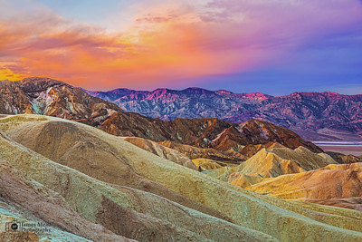 """Death Valley's Awakening,"" Zabriskie Point Sunrise, Death Valley National Park"