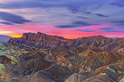 """The Red Cathedral,"" Zabriskie Point at Sunset, Death Valley National Park, California"