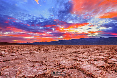 """Nature's Watercolor,"" Badwater Basin Sunset, Death Valley National Park"