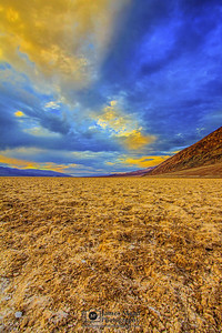 """Storms Over Badwater,"" Badwater Basin Sunset, Death Valley National Park"
