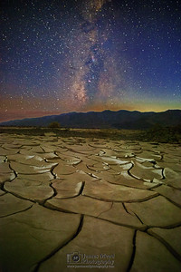 """Split Eternity,"" Milky Way over Mud Cracks, Death Valley National Park, California"