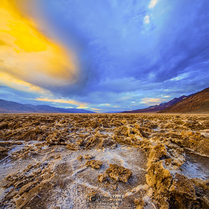 Sunset Torpedo, Badwater Basin, Death Valley National Park