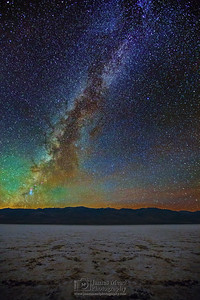 """Badwater Destruction,"" The Milky way over Badwater Basin, Death Valley National Park"