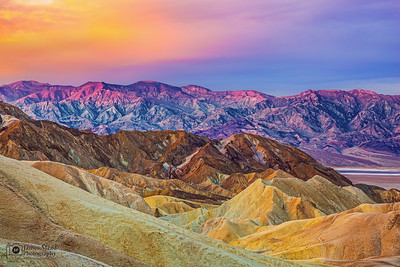 """Good Morning Zabriskie,"" Sunrise over Zabriskie Point, Death Valley National Park"