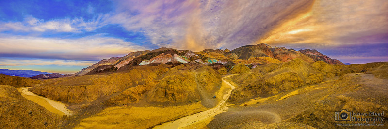"""Artist's Sunrise,"" Sunrise over Artist's Palette, Death Valley National Park"