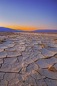 """Broken Road,"" Sunset over Mud Cracks, Death Valley National Park, California"